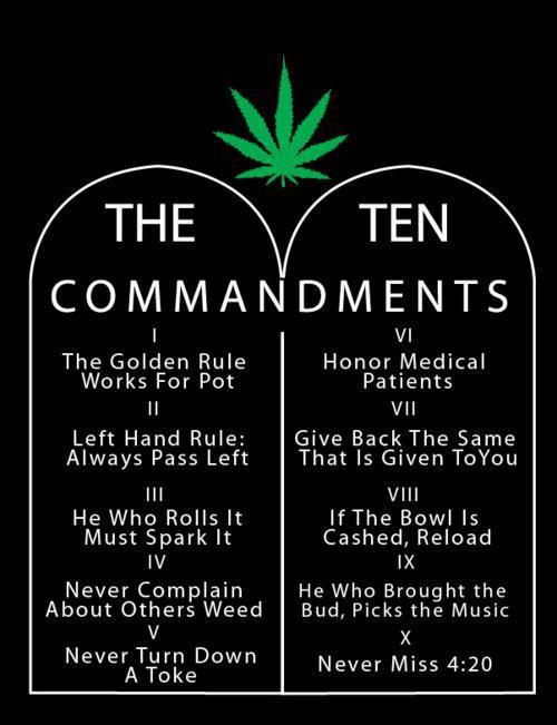 The Stoner Commandments